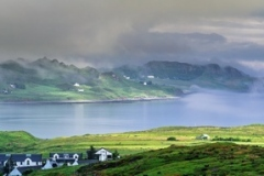 Foggy Morning -Panoramic View of Staffin Bay on the Isle of Skye in Scotland
