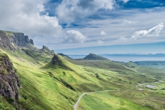 Panoramic View of Quiraing  Hill in the Isle of Skye, Scotland