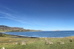 A panoramic view of Staffin Bay at Staffin, Isle Of Skye, Scotland